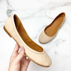 FRYE Carson Leather Blush Pink Ballet Flats Size 8